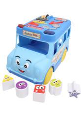 Autobus formes emboîtables bleus