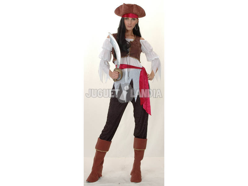 Disfraz Pirata Caribe Mujer Talla XL