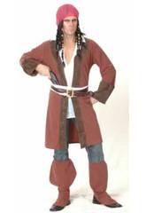 Maschera Pirata dei Caraibi Giacca Lunga Uomo Tagl