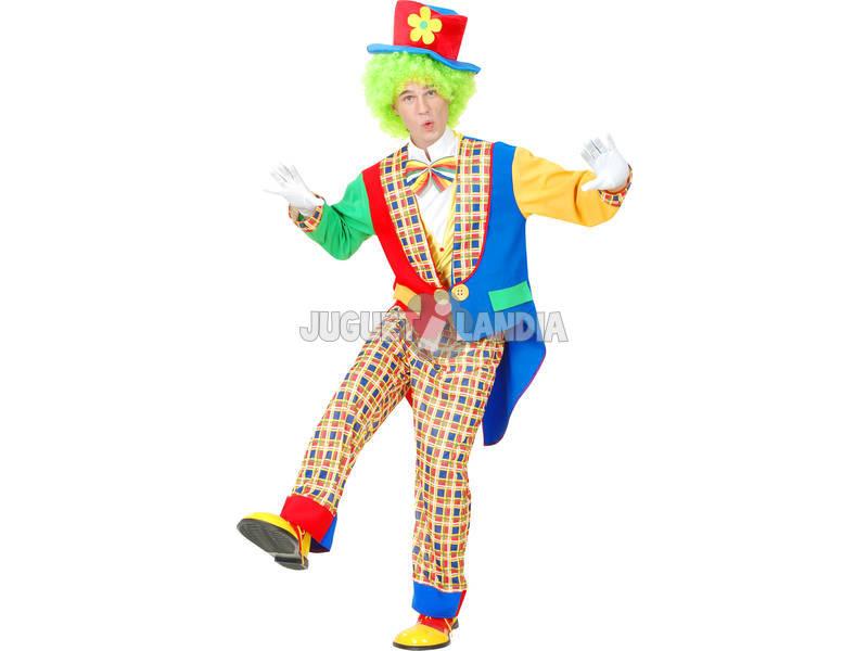 Disfraz Payaso Pantalón Cuadros Hombre Talla XL