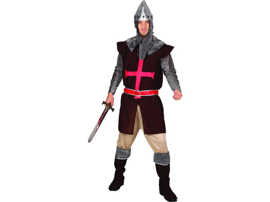 Fantasia Cavaleiro Cruzada Homem Tamanho XL