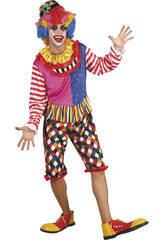 Déguisement Clown Pantalon Court Homme  Taille L