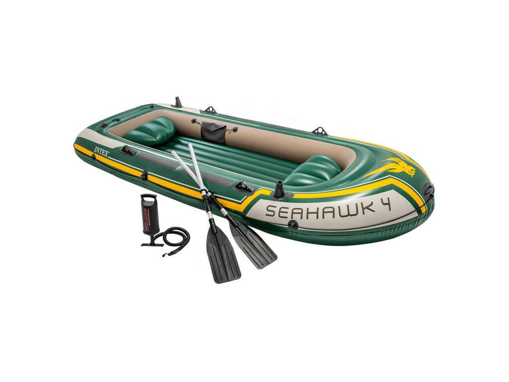 Barca Hinchable Seahawk 4 Deluxe 351x145x48 Cm Intex 68351NP