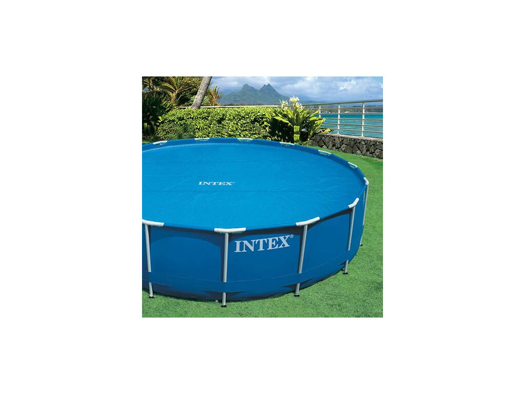 Cubierta solar para piscinas de 488cm intex 29024 for Cubre piscinas intex