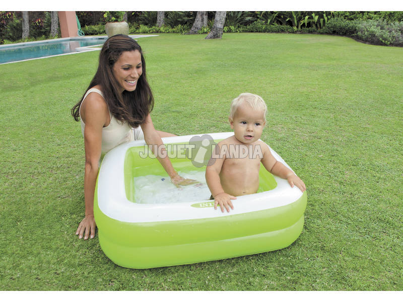 Acheter piscine gonflable carr e 85 x 85 x 23 cm intex for Piscine carree intex