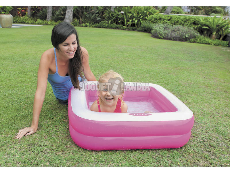 Piscina hinchable cuadrada 85x85x23 cm intex 57100np for Piscina intex cuadrada