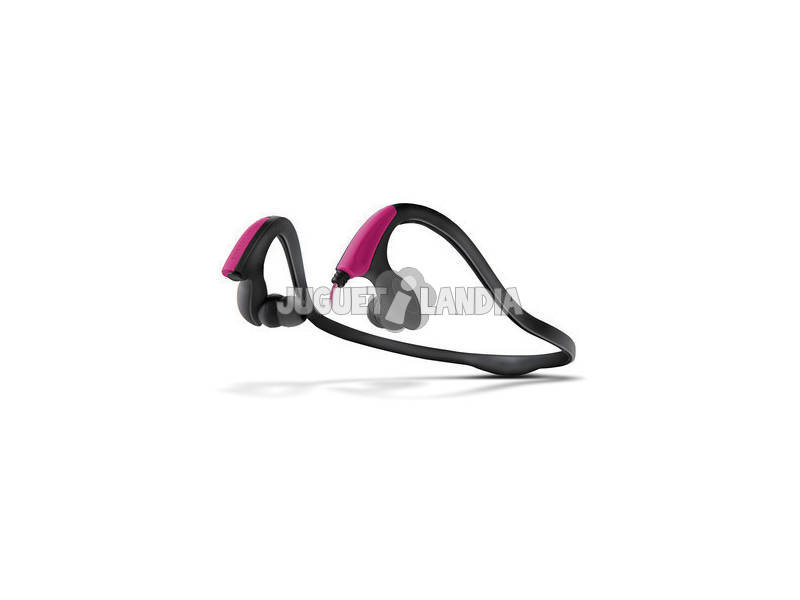 Energy Earphones Running Two Neon Pink