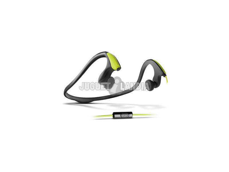 Energy Earphones Running One Neon Green Mic