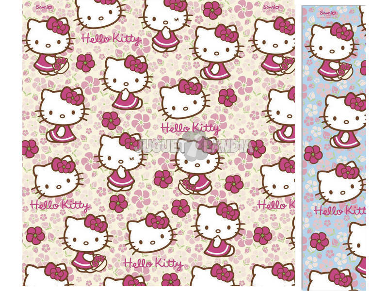 Papel de regalo Hello Kitty 200 x 70 cm.