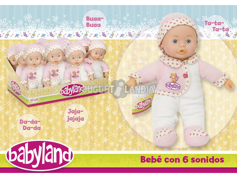 Babyland 30 cm. Com 6 sons