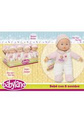 Babyland 30 cm. con 6 sonidos