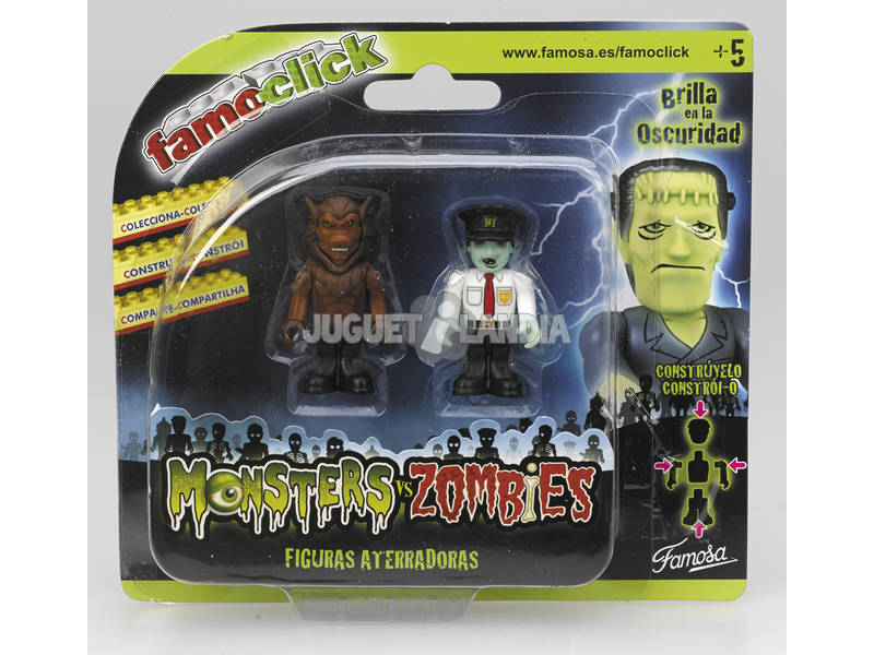 Famo click monsters VS Zombies pack 2 figurines