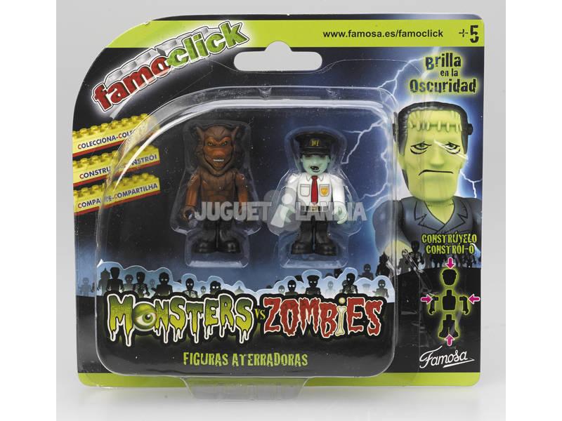 Famo click Monsters VS Zombies Pack 2 figuras