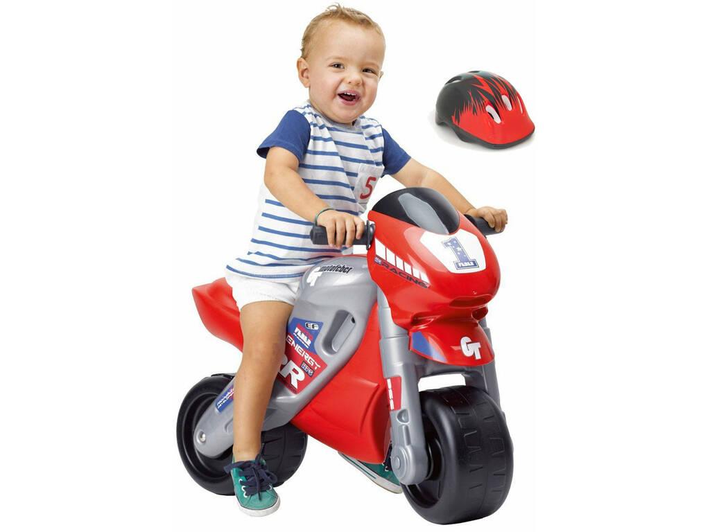 Carrinho de Empurrar Motofeber 2 Racing com Capacete 54x70x36 cm Famosa 800008171