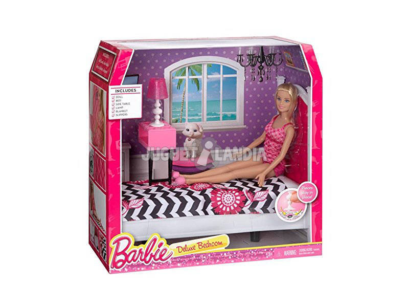 Barbie muebles con mu eca juguetilandia for Muebles para barbie