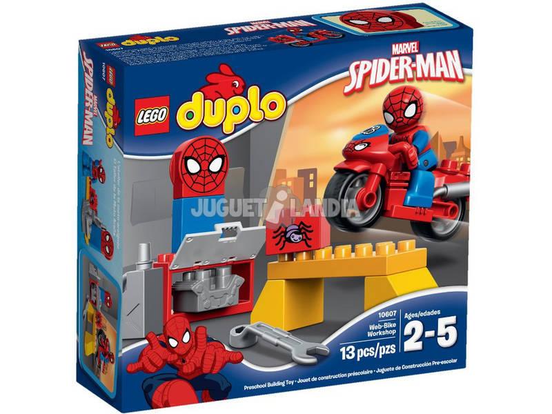 Lego Duplo L'atelier de la moto-araignée de Spider-Man