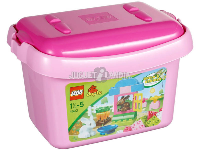 Lego Duplo Contenitore Rosa mattoncini