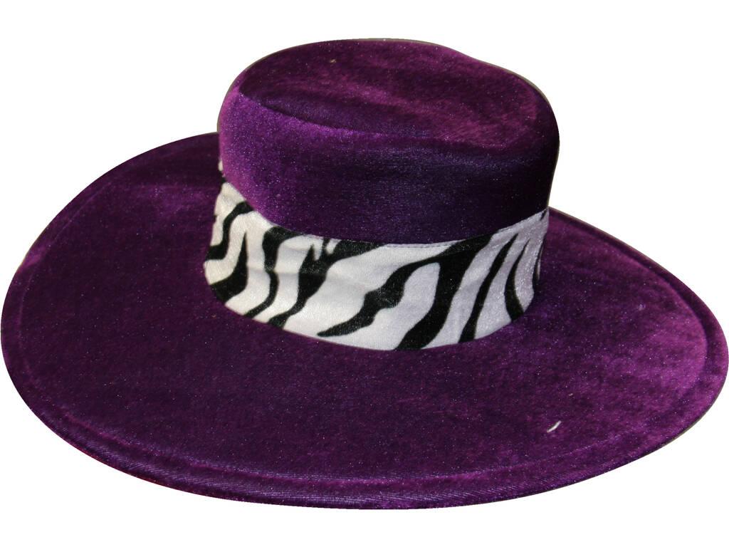 Cappello Pimp Zebra Nero Lilla