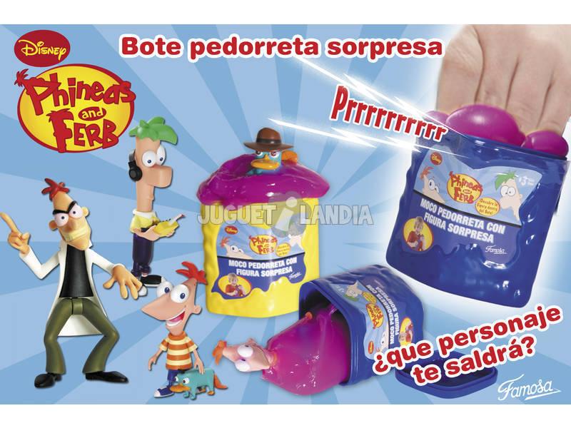 Phineas y Ferb moco pedorreta con figura