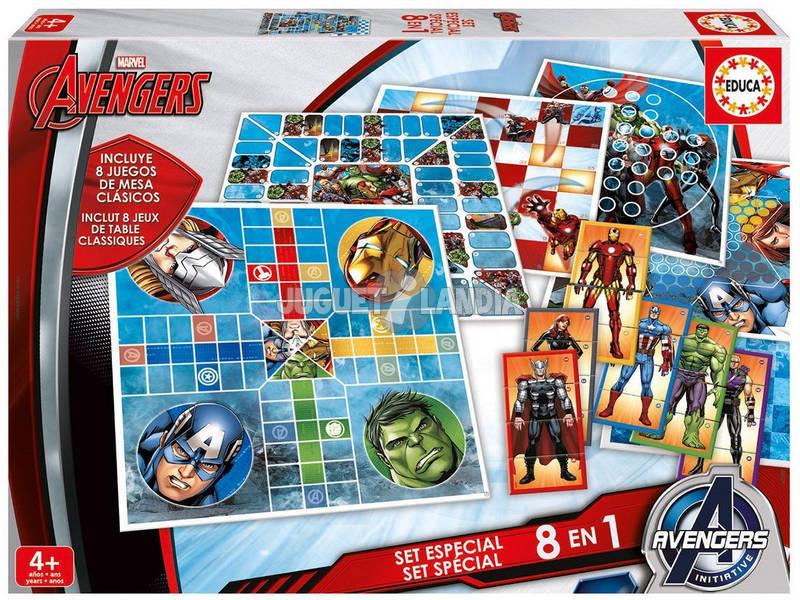 Conjunto Especial de Vingadores 8 em 1