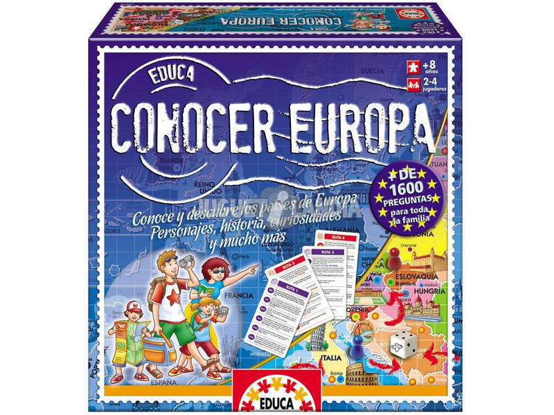 Jogo de Tabuleiro Conhecer Europa Educa 14669
