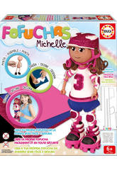 imagen Muñeca Fofucha Michelle Patinadora Educa Manualidades 16793