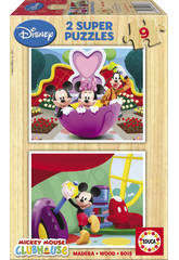 imagen Puzzle 2X9 Mickey Mouse Club House Educa 13467