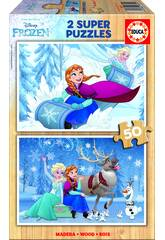 Puzzle 2x50 Frozen 26x18 cm EDUCA 16802