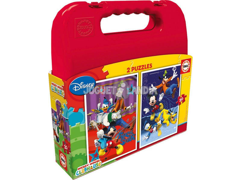 Puzzle 2x20 Mickey Mouse Educa 16510