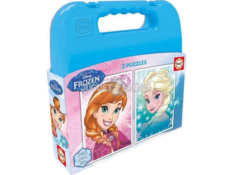 Puzzle 2x20 Frozen 25x25 cm EDUCA 16511