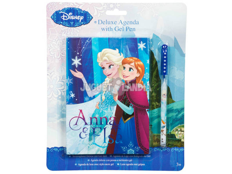 Frozen Agenda Deluxe com Caneta Gel