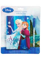 Frozen Agenda Deluxe con Penna Gel.