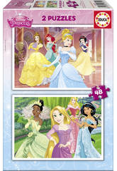 Puzzle 2X48 Prinzessinnen Disney Educa 16851