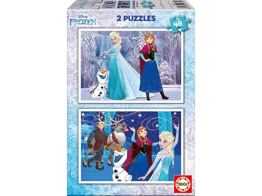 Puzzle 2X48 Frozen 28x20 cm EDUCA 16852