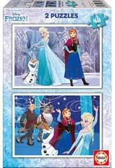 imagen Puzzle 2X48 Frozen 28x20 cm EDUCA 16852