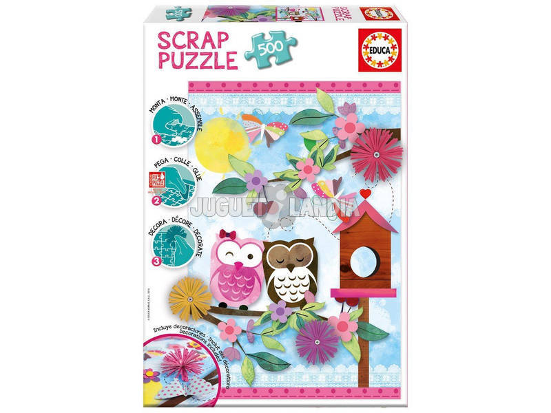 Puzzle 500 Valentine Art Scrap Puzzles Educa 16739