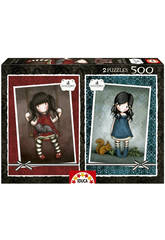 Educa Borras - Puzzle Ruby + You Brought Me Love Gorjuss 2x500 pz