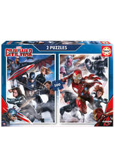 Puzzle 2x500 Captain America: Civil War