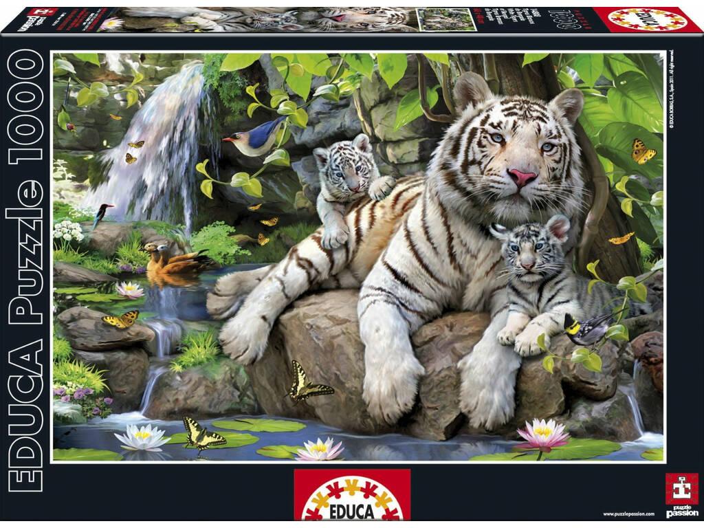 PUZZLE 1000 Tigri Bianche Di Bengala