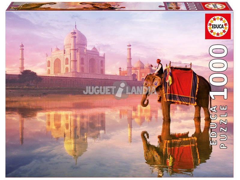 Puzzle 1000 Elefante en el Taj Mahal Educa 16756