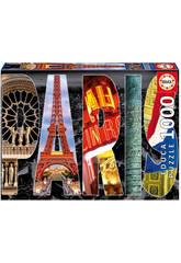 Puzzle 1000 Collage de París Educa 16757
