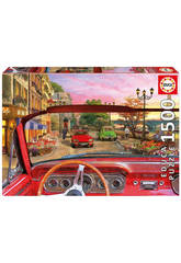 Educa Puzzle 1500 Paris in a Car