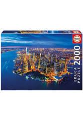 Puzzle 2000 Nueva York Desde El Aire Educa 16773