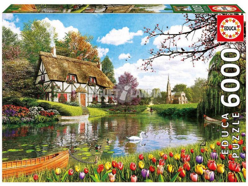 Puzzle 6000 Primavera no Lago
