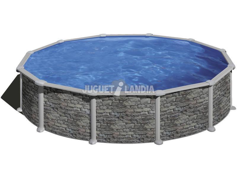 Piscina Ovalada Imitación Piedra Córcega 350x132 cm. Gre KITPR358PO