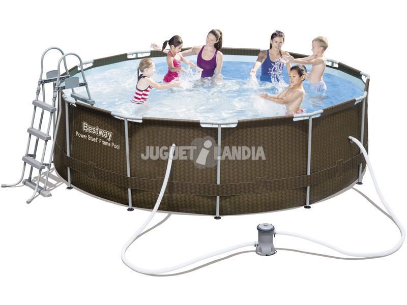 Piscina desmontable 366x100 cm bestway 56379 juguetilandia for Juguetilandia piscinas desmontables