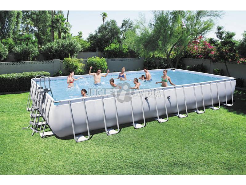 acheter piscine hors sol 956x488x132 cm bestway 56479 juguetilandia. Black Bedroom Furniture Sets. Home Design Ideas