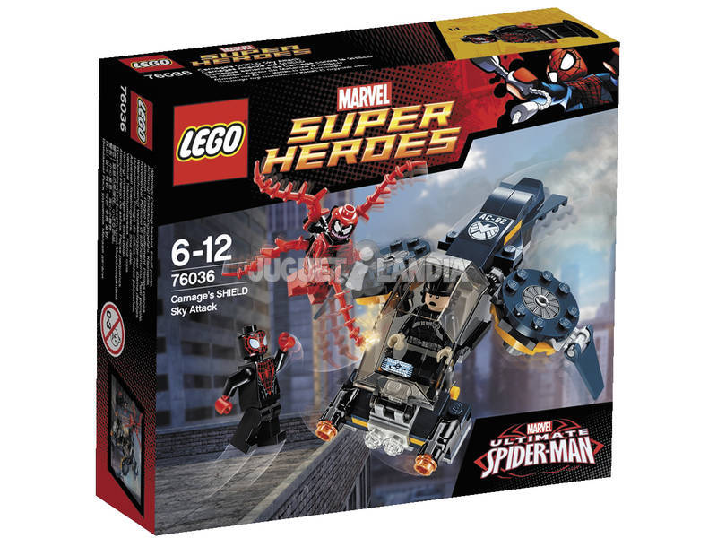 Lego Super Heroes Carnege e l'attacco aereo IELD