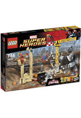 Lego Super Heroes Ataque Sandman y Rhino