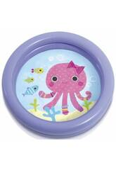 Piscina Baby Fondo Animaletti 61x15 cm Intex 59409